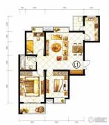 山水泉城3室2厅1卫126平方米户型图