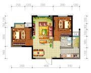 星光华印象2室1厅1卫64平方米户型图