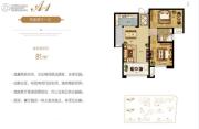 生活・印象2室2厅1卫81平方米户型图