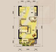 东湖天下1室0厅1卫45平方米户型图