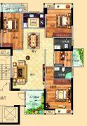 鸿泰华府4室2厅3卫148平方米户型图