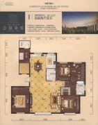 公园柒�4室2厅2卫221平方米户型图