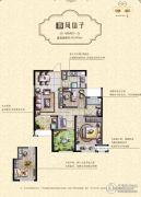 绿地香奈3室2厅1卫85平方米户型图