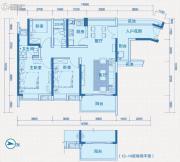 中惠国际金融中心3室2厅2卫117平方米户型图