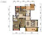 成都文儒德5室2厅2卫185平方米户型图