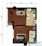 华远九都汇1室1厅1卫67平方米户型图