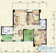 瑞升望江橡树林2室2厅1卫89平方米户型图