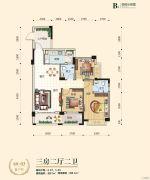 台湾街3室2厅2卫90--100平方米户型图