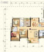 星海湾华庭4室2厅2卫122平方米户型图