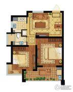 舟山黄金海岸2室2厅1卫74平方米户型图