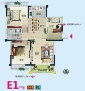 春华星运城3室2厅1卫92--97平方米户型图