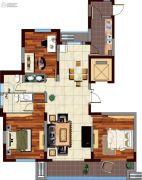 鸿泰・花漾城3室2厅2卫147--152平方米户型图