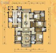 铂雅苑4室2厅4卫330平方米户型图