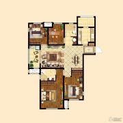 中粮祥云4室2厅2卫118平方米户型图