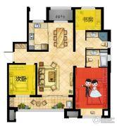 世茂九龙庭3室2厅2卫126平方米户型图