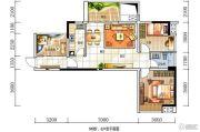 深房传麒山2室2厅1卫88平方米户型图