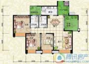 瑞升望江橡树林3室2厅2卫120平方米户型图