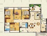 云山峰境花园4室2厅2卫126平方米户型图