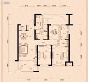 金茂广场3室2厅2卫122平方米户型图