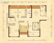 公园华府4室2厅2卫135平方米户型图