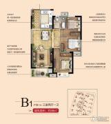 南昌万达城3室2厅1卫98平方米户型图