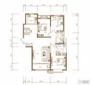 东胜紫御府3室2厅2卫128平方米户型图