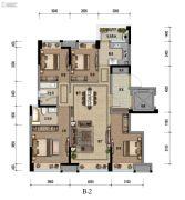 九龙仓时代小镇1号府邸4室2厅2卫127平方米户型图