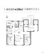 绿地・海珀云翡3室2厅3卫158平方米户型图