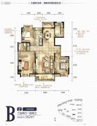 中国铁建国际城3室2厅2卫162平方米户型图