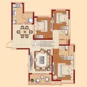 恒大绿洲3室2厅2卫144平方米户型图