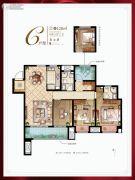 新城十里锦绣4室2厅2卫128平方米户型图