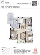 路劲香港时光3室2厅2卫125平方米户型图
