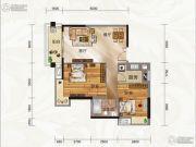 云景华庭2室2厅1卫73平方米户型图