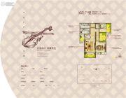 中冶・一曲江山2室2厅1卫89平方米户型图