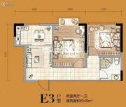 益华・御才湾2室2厅1卫49平方米户型图