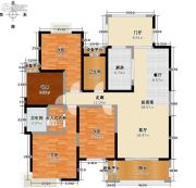玖��新城4室0厅2卫140平方米户型图