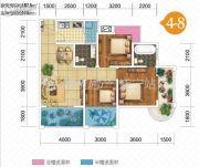 双发广场3室2厅2卫107平方米户型图