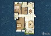 世茂香槟湖3室2厅1卫123平方米户型图