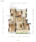 金科中建博翠长江4室2厅2卫109平方米户型图