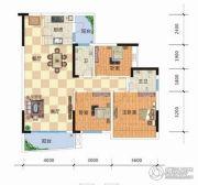 天元海天新城3室2厅2卫99平方米户型图