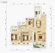 连城湾2室2厅2卫87平方米户型图