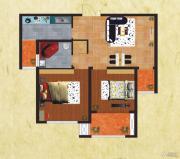 友谊嘉御龙庭2室2厅1卫75平方米户型图