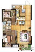 金地・翔悦天下2室2厅1卫76平方米户型图