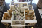 山河万里3室2厅1卫95--98平方米户型图