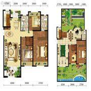 宝能水岸康城3室2厅2卫121平方米户型图