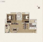 新世界凯粤湾2室2厅1卫80平方米户型图