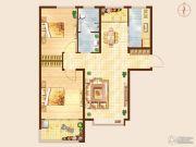 知山雅筑2室2厅1卫90平方米户型图