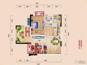 i昕晖1室2厅1卫47平方米户型图