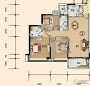 文华豪庭3室2厅2卫113平方米户型图
