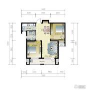 紫林湾2室2厅1卫96平方米户型图